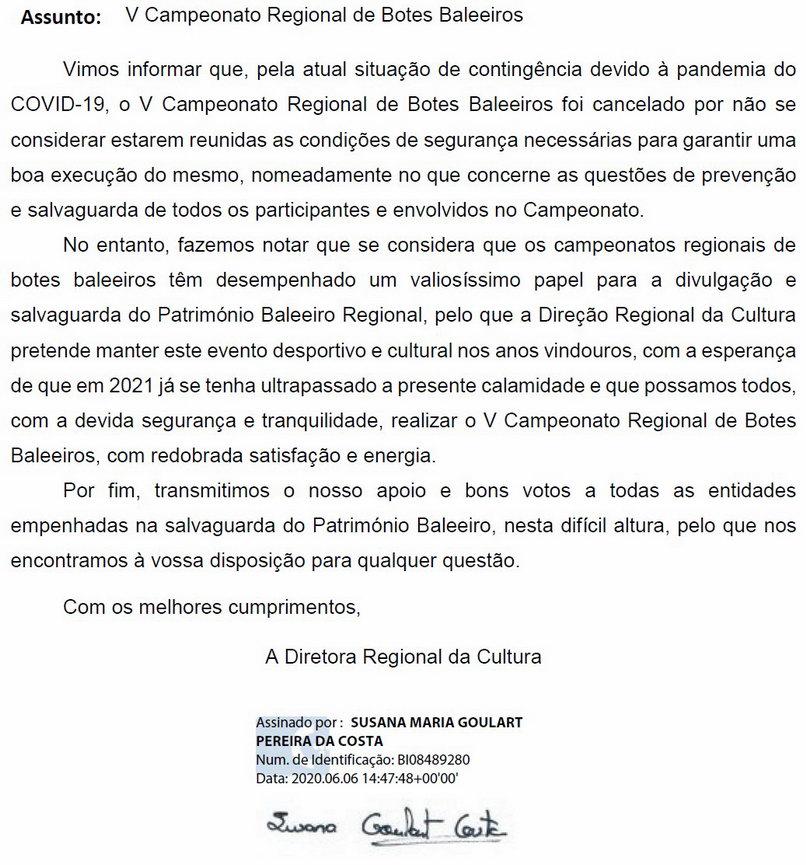 camp reg botes 2020 cancelado